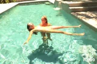 Лесбияночки порезвились в бассейне и устроили оргию #2