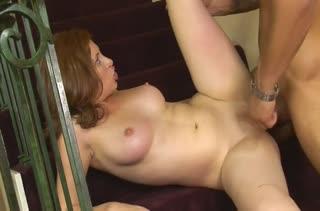 Бухая Ginger Blaze согласилась на порно возле лестницы #6