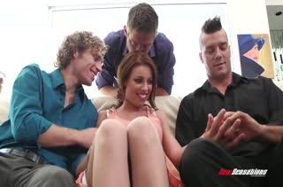 Миленькая Britney Amber осилила сразу три члена #2